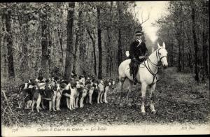 Ak Loir et Cher, Chasses à Courre du Centre, les Relais, Reiter, Jagdhunde