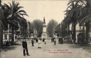 Ak Barcelona Katalonien Spanien, Monumento a Antonio Lopez