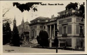 Ak Madrid Spanien, Museo del Prado