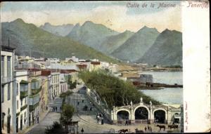 Ak Santa Cruz de Tenerife Teneriffa Kanarische Inseln Spanien, Calle de la Marina