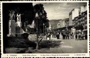 Ak Oviedo Asturias Spanien, Calle Uría y Paseo
