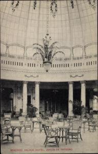 Ak Madrid Spanien, Palace Hotel, Jardín de Invierno