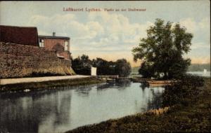 Ak Lychen im Kreis Uckermark, Stadtmauer