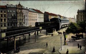 Ak Berlin Kreuzberg, Hochbahn, Kottbusser Tor
