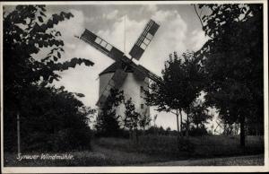Ak Syrau Rosenbach im Vogtland, Windmühle