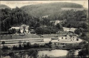 Ak Rentzschmühle Pöhl im Vogtland, Bahnhof, Hotel Steinkopf