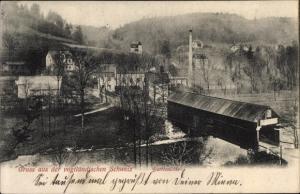 Ak Barthmühle Pöhl Vogtland, Gesamtansicht