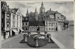Ak Meerane in Sachsen, BIsmarckplatz
