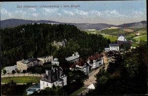 Ak Bad Ottenstein Schwarzenberg im Erzgebirge Sachsen, Gesamtansicht