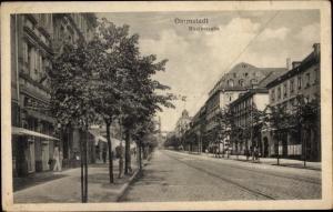 Ak Darmstadt in Hessen, Rheinstraße
