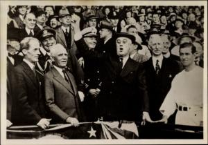Foto Ak Polen, Pol. III. Q., Männer, Politiker, Offiziere