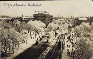 Foto Ak Riga Lettland, Alexander Boulevard