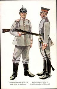Ak Leibgarde Infanterie Regiment 115, Unteroffizier, Garde Dragoner Regiment 23, Vize Wachtmeister