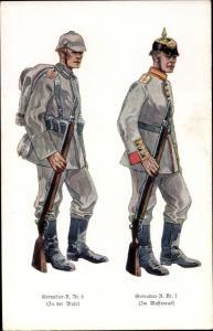 Ak Deutsche Soldaten, Grenadier Regiment 5, Grenadier Regiment 7