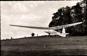 Ak Wuppertal in Nordrhein Westfalen, Luftsportclub Wuppertal e. V., Segelflugzeug Ka 7