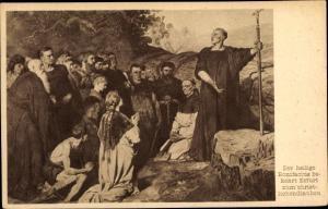 Ak Erfurt in Thüringen, P. Jansen, Bekehrung zum christlichen Glauben durch heiligen Bonifacius