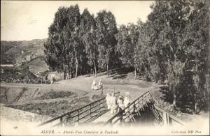 Ak Algier Alger Algerien, Abords d'un Cimetière le Vendredi