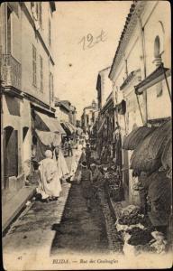 Ak Blida Algerien, Rue des Coulougles