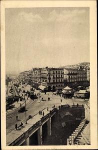 Ak Alger Algerien, Le Boulevard de la République, Fêtes de son Centenaire 1930