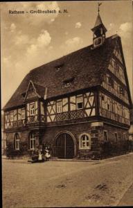 Ak Großheubach a. M., Rathaus, Fachwerk