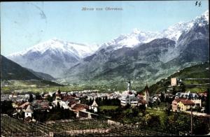 Ak Meran Merano Südtirol, Panorama, Meran von Obermais