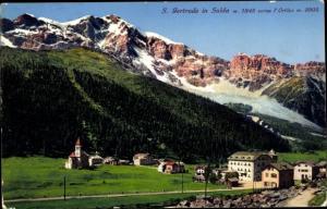 Ak Sulden Solda Stilfs Stelvio Südtirol, Panorama, S. Gertrude, Gebirge