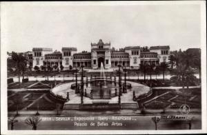 Ak Sevilla Andalusien Spanien, Exposicion Ibero Americana, Palacio de Bellas Artes
