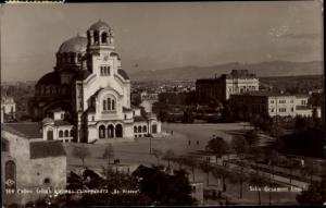 Ak Sofia Bulgarien, Totalansicht, orthodoxe Kirche