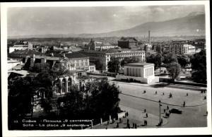 Ak Sofia Bulgarien, Ortsansicht, La place 9 septembre