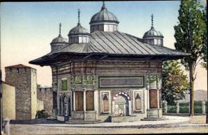 Ak Constantinople Konstantinopel Istanbul Türkei, Fontaine du Sultan Ahmed