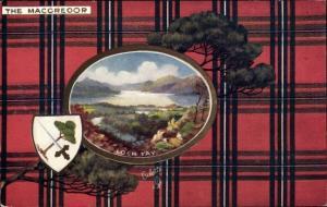Wappen Passepartout Ak Loch Tay Schottland, The Macgregor, Tuck No. 9401