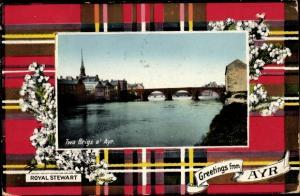 Passepartout Ak Ayr Schottland, Twa Brigs o' Ayr, Royal Stewart