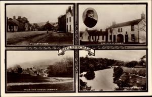 Ak Ecclefechan Dumfries Schottland, Straßenpartie, Hoddom Bridge, Thomas Carlyle's House
