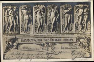 Ak Berlin Mitte, Fassadenfiguren, Haus Trarbach