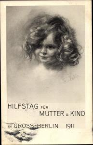 Künstler Ak Berlin Mitte, Hilfstag für Mutter und Kind 1911