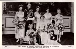 Ak Prince Arthur of Connaught, Princess, Bridesmaids, Mary, May, Victoria, Maud, Helena