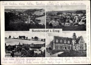 Ak Borstendorf Grünhainichen Sachsen, verschieden Ansichten