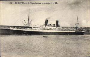 Ak Le Havre Seine Maritime, Paquebot Lafayette, CGT