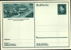 Ganzsachen Ak Gelsenkirchen im Ruhrgebiet, Moderne Ausstellungshallen, PP 113