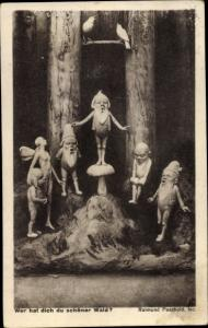 Künstler Ak Paschold, R., Wer hat dich du schöner  Wald, Zwerge, Elfe
