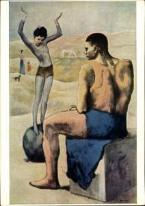 Künstler Ak Picasso, Pablo, Das Mädchen auf der Kugel