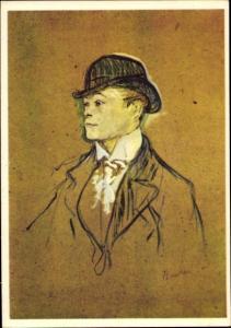 Künstler Ak de Toulouse Lautrec, Henri, Kopf eines Stallburschen