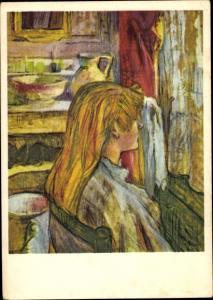 Künstler Ak de Toulouse Lautrec, Henri, Frau am Fenster