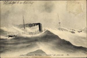 Ak Paquebot Louqsor, Messageries Maritimes