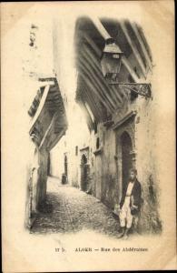 Ak Algier Alger Algerien, Rue des Abderamm