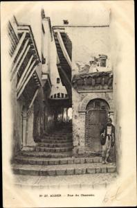 Ak Algier Alger Algerien, Rue du Chameau