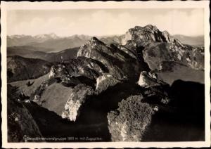 Ak Benediktenwandgruppe mit Zugspitze