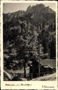 Ak Mitteralm am Wendelstein, Berghütte