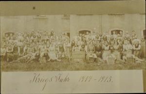 Foto Ak Firma Gebrüder Kunge, Militärarbeit, Rüstfabrik, I. WK, Arbeiter