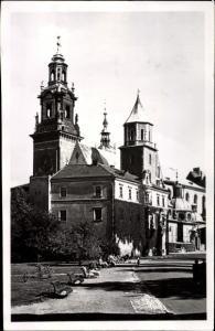 Ak Kraków Krakau Polen, Katedra na Wamelu, Kathedrale